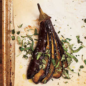 Roasted Eggplants with Herbs Recipe
