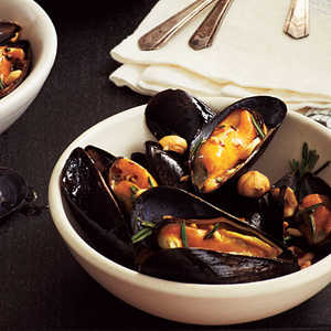 Nutty Mussels Recipe