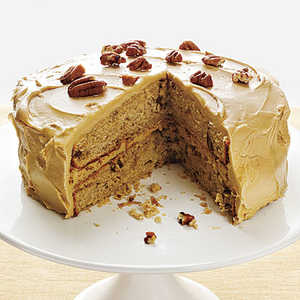 Pecan Spice Cake with Maple Frosting Recipe