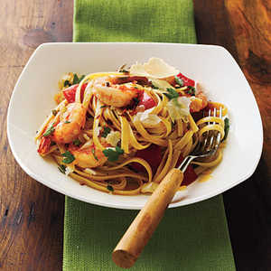 Roasted Red Pepper and Herb Pasta with ShrimpRecipe