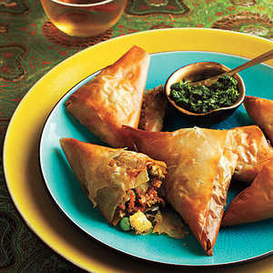 Vegetable Samosas with Mint Chutney Recipe
