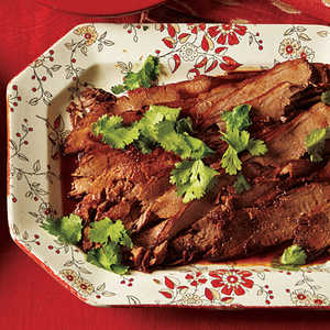 Beer-Braised Brisket with Honey-Lime Glaze Recipe