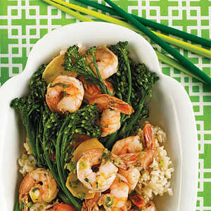 Shrimp Sauteed with Broccolini Recipe