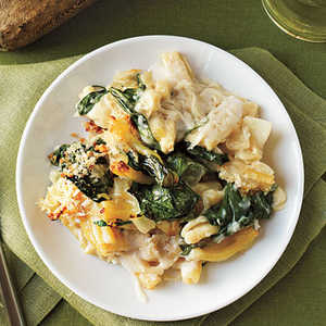 Baked Pasta with Spinach, Lemon, and CheeseRecipe