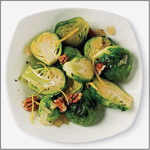 Sautéed Brussels Sprouts with Lemon and PecanRecipe