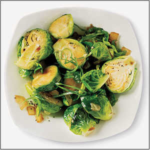 Sautéed Brussels Sprouts with Sesame, Garlic, and GingerRecipe