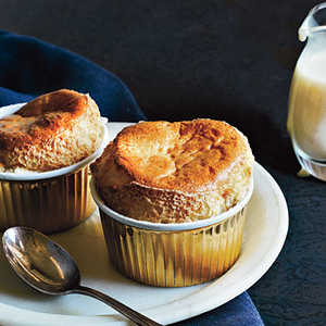 Brown Sugar Souffles with Creme AnglaiseRecipe