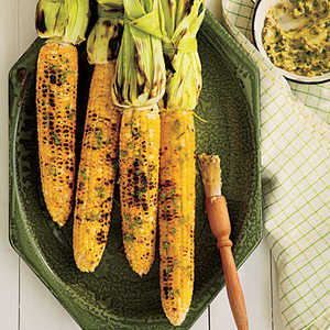 Grilled Corn on the Cob with Roasted Jalapeno ButterRecipe