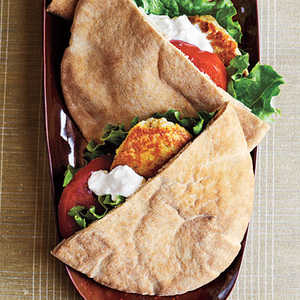 White Bean and Sage Pita BurgersRecipe