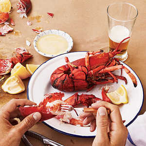 Grilled Maine LobstersRecipe