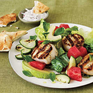 <p>Grilled Scallop Salad</p>