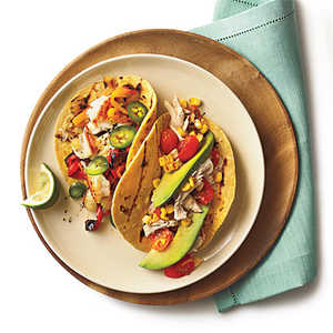 <p>Sautéed Tilapia Tacos with Grilled Peppers and Onion</p>