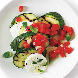 "Caprese ""Salsa"" Zucchini with Sea Salt Recipe"