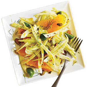 Shaved Fennel Salad with Orange, Green Olives, and PistachiosRecipe