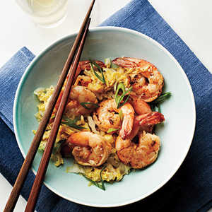 Cantonese-Style Shrimp and Napa CabbageRecipe