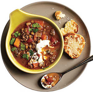 Indian-Spiced Lentils and LambRecipe