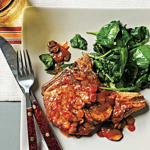 Pork Chops with Grits and Red-Eye GravyRecipe