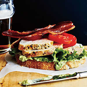 Open-Faced Chicken Club SandwichesRecipe