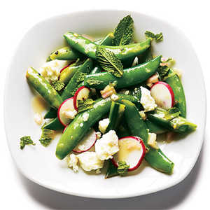 Radish and Feta Snap PeasRecipe