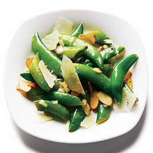 Toasted Almond and Pecorino Snap Peas Recipe