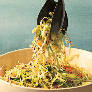 Cabbage Slaw with Tangy Mustard Seed DressingRecipe