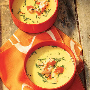 Chilled Fresh Corn Soup with King Crab Recipe