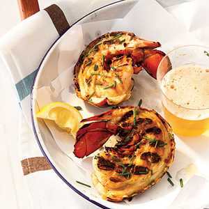 Grilled Maine Lobster Tails with Miso ButterRecipe