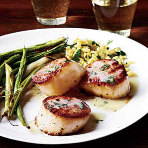 Seared Scallops and Herb Butter SauceRecipe