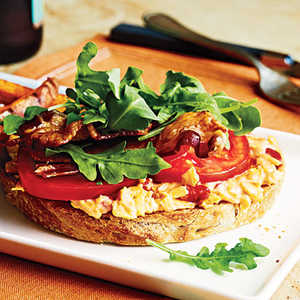 <p>Open-Faced Pimiento Cheese BLTs</p>