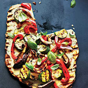 Grilled Vegetable and Fontina PizzaRecipe