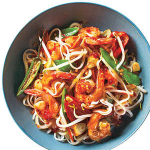 Sweet and Spicy Shrimp with Rice NoodlesRecipe