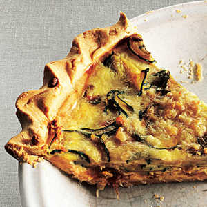 Zucchini and Caramelized Onion Quiche Recipe