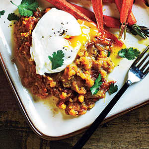 Spiced Lentils and Poached EggsRecipe
