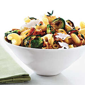Cavatappi with Browned Brussels Sprouts and Buttery BreadcrumbsRecipe