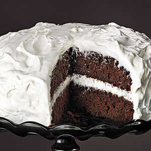 Chocolate Cake with Fluffy Frosting Recipe