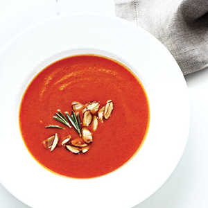 Creamy Pumpkin-Red Pepper SoupRecipe