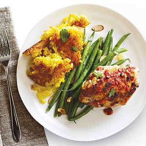 Fiery Chicken Thighs with Persian RiceRecipe