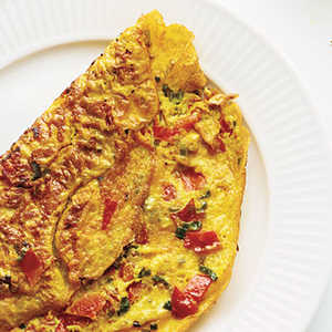 Omelet with Turmeric, Tomato, and OnionsRecipe