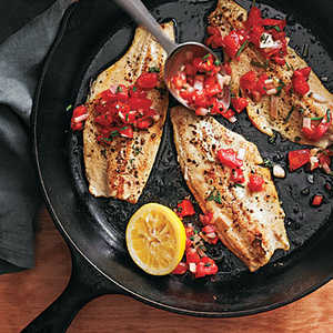 Rainbow Trout with Smoked Tomato SalsaRecipe