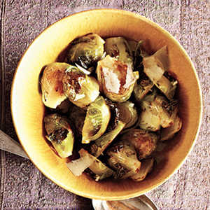 Romano-Topped Brussels SproutsRecipe
