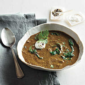 Curried Lentil Soup with Yogurt and CilantroRecipe