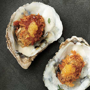 Pan-Fried Oysters with Tangy Crème FraîcheRecipe