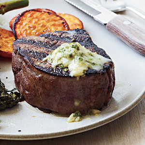 <p>Pan-Seared Steak with Chive-Horseradish Butter</p>