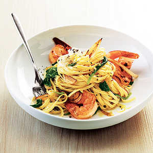 Shrimp Linguine with Ricotta, Fennel, and SpinachRecipe