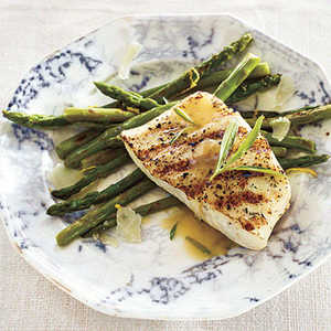 Grilled Halibut with Tarragon Beurre BlancRecipe