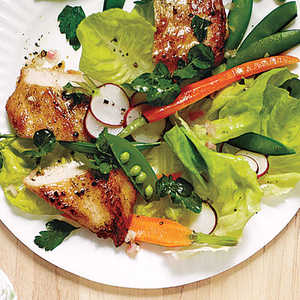 Spring Garden Salad with Chicken and Champagne Vinaigrette Recipe