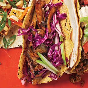 Beer-Braised Chicken Tacos with Cabbage SlawRecipe
