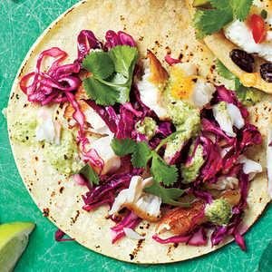 Fish Tacos with Tomatillo SauceRecipe