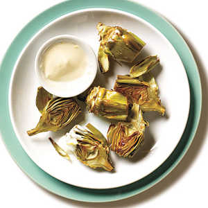 Roasted Baby Artichokes with Lemon AioliRecipe