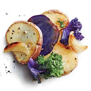Baby Potatoes with Kale and GarlicRecipe